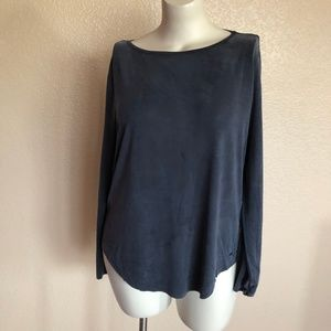 TOMMY HILFIGER Midnight Benice Boat Neck Top M New